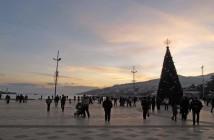 Набережная Ялты в декабре