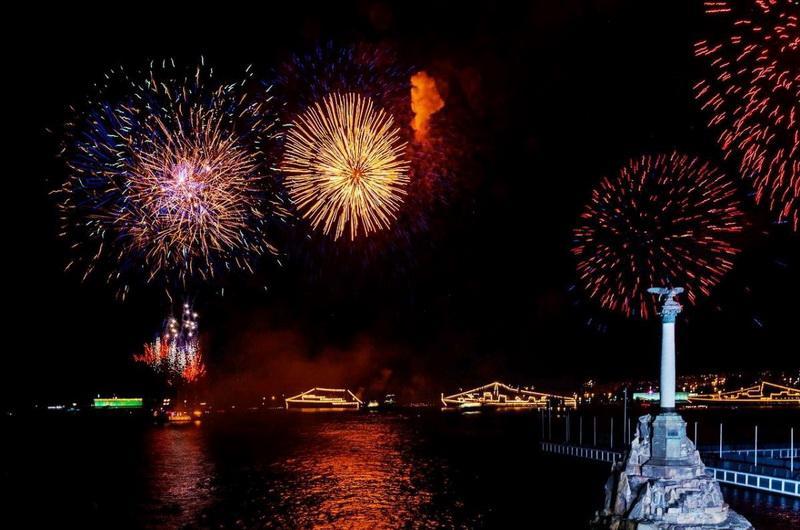 День ВМФ в Севастополе. Фейерверк